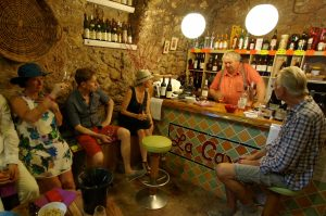 French wine enthusiasts visiting La Cave Cotignac